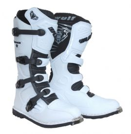 Wulfsport Trackstar MX Boots White